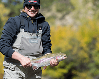 Big Rainbow Trout Catch during a Stillwater Trip at Spinney Mountain Reservoir
