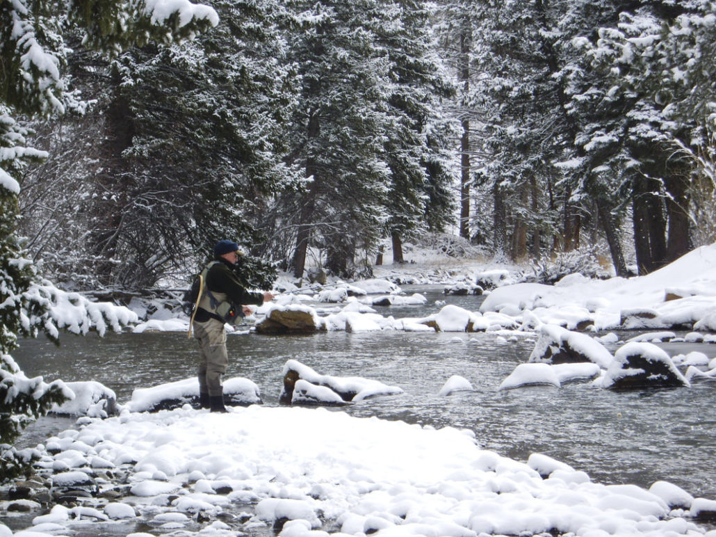 winter fly fishing with midges in colorado