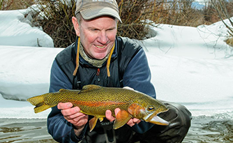 Pat Dorsey with a Winter Fly Fishing Catch
